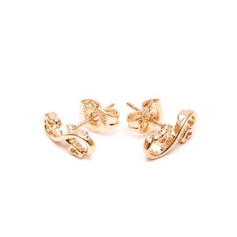 Glamorosa Loving Infinity Heart Stud Earrings (Gold) Buy 1Take 2 - 2