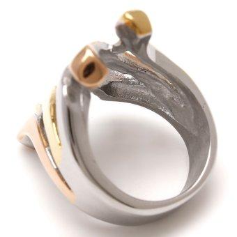 Glamorosa Mega Empire Ring In 3 Tone (Silver) - 3