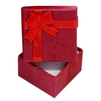 Glamorosa White Diamond Oval Shape Earrings (Gold) with Free Box - 4