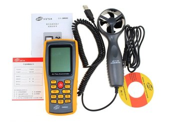 GM8902 Anemometer Wind Speed GaugeTemperature Measure Digital 45m/s USB Air Speed 0.3-45m/s Air Temperature 0-45C Air Flow