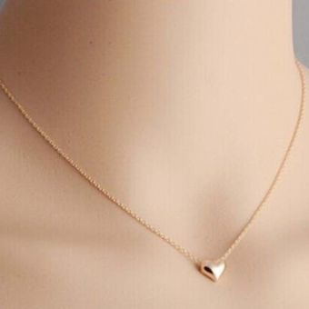 Gold Color Love Heart Short Necklace Present Gift - intl