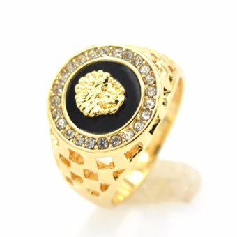 Gold Plating Black Fashion Men Ring Jewelry For Men - intl Price Philippines