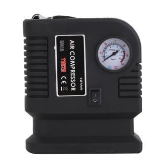 GOOD Portable 12V Car Air Compressor Pump Tire And 3 Adapter Electric Tyre Inflator black - 3