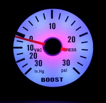 Good Service Boost Gauge 52mm 2'' Car 30 PSI Pressure Vacuum TurboBoost Pointer Dials Gauge Meter Light - intl Price Philippines