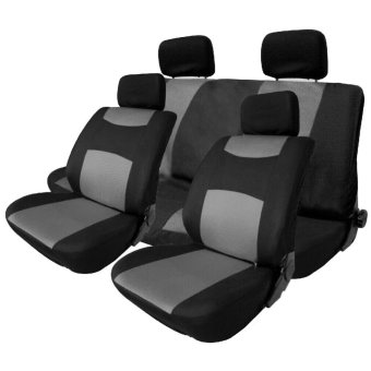 Gray 10Pcs Universal Car Seat Cover Set Headrest Cove For 4 Seasons - intl