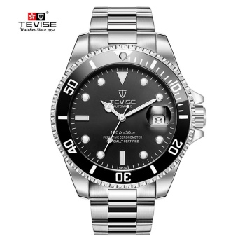 Green Men Watches TEVISE Automatic Mechanical Watch Luxury Brand Waterproof Luminous Men Watch Calendar Clock Relogio Masculino - intl