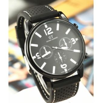 GT Men's Classic Chronograph Black Silicone Strap Watch