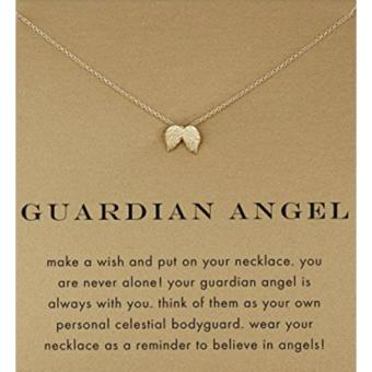 GUARDIAN ANGEL pendant necklace gold dipped Price Philippines