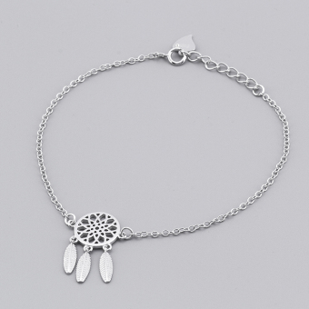 Gushiyinzhi s925 Japan and South Korea feather sterling silver bracelet