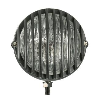 H4 12V 55W 5-inch Motorcycle Scalloped Headlight with GrilleLampshade for or Harley Chopper Bobber - intl