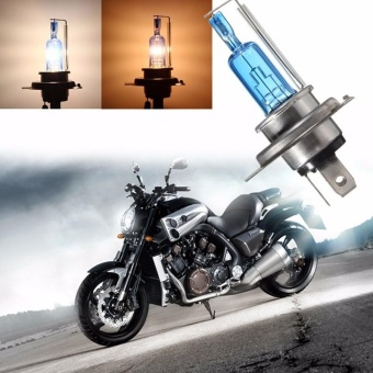 H4 35W Halogen White 6000K Light Lamp Headlight Bulb Auto Car Waterproof 12V - intl