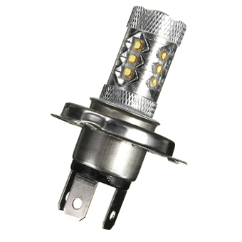 H4 80W CREE LED Super Bright White Tail Turn Brake Head Car Light Lamp Bulb (White)