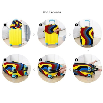 Ha nyu Stretchable Elastic Travel Luggage Suitcase ProtectiveCover- Polygon Design S Size - intl - 2