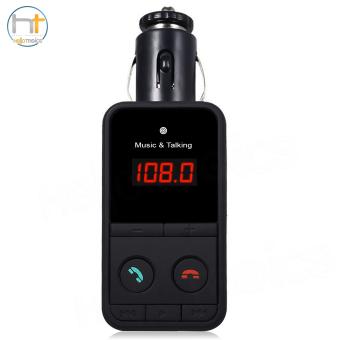 Hand Free 301E Wireless Bluetooth FM Transmitter Modulator Car Kit MP3 Player (Black)