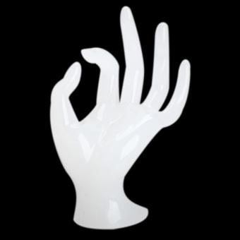 Hand Shape Jewelry Display Holder Bracelet Ring Watch Stand Support White (Intl) - picture 2