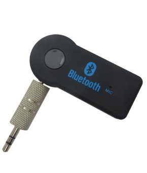 Hands-Free 3.5 mm Car Bluetooth Wireless Music Receiver with Mic& Stereo Output