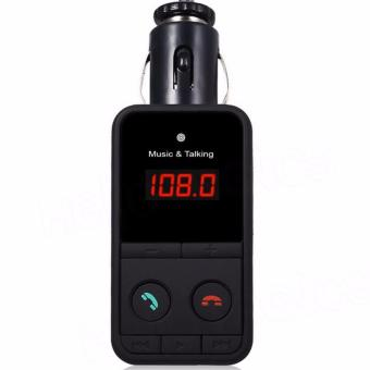 Hands-Free Wireless Bluetooth FM Transmitter Modulator Car Kit MP3Player 301E (Black) - 2