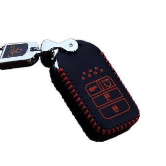 Handwork genuine leather key cover, 4 Buttons smart for Honda CRV CRIDER Accord SPIRIOR CIVIC Odyssey Crosstour Jade FIT XR-V - intl