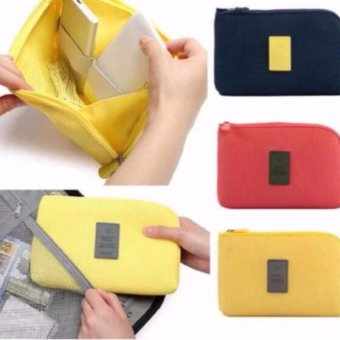 Handy Travel Gadget Organizer Pouch Color Yellor