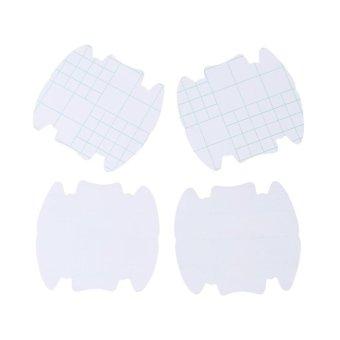 Hang-Qiao 4Pcs Vinyl Stickers Universal Door Handle Bowl Protective Film (Transparent) - intl - 5