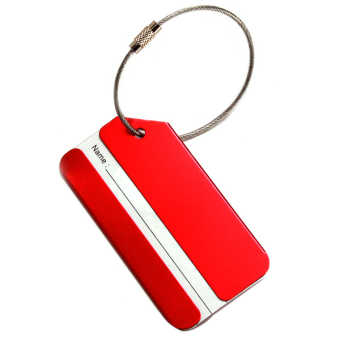 Hang-Qiao Boarding Pass Luggage Tag Aluminum Alloy (Red)