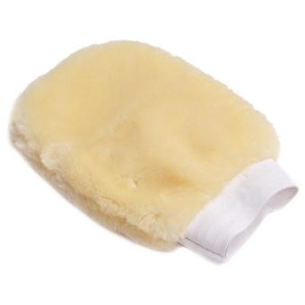 Hang-Qiao Car Wash Mitt Deep Pile Cleaning Gloves Yellow