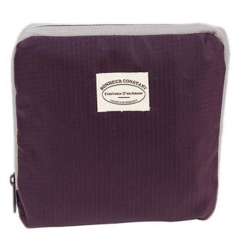 Hang-Qiao Folding Handbag Storage Shoulder Totes Travel Bag Pouch Purple - picture 2