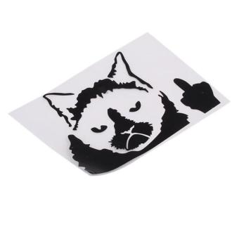 Hang-Qiao Grumpy Cat Funny Car Stickers Decals Black - picture 2