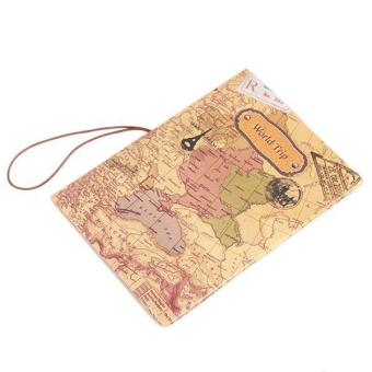 Hang-Qiao New Fashion PU Leather Passport Holder World Map TravelPassport Cover Price Philippines