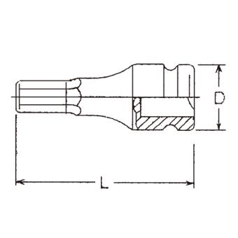 "Hans Tools 86016M-22mm 3/4"" Drive Impact Hex Bit Socket (Black) - picture 2"