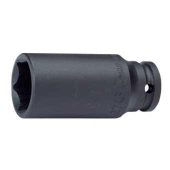 "Hans Tools 88300A-15/16inch 1"" Drive 6 Points Deep Impact Socket - SAE (Black)"