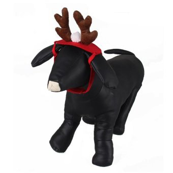 Hanyu Animal Elk Pet Dog Costume Cap Hat Puppy Teddy ChristmasCosplay Decor