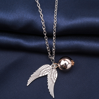 Hanyu Harry Potter Golden Snitch Quicksilver Golden Pearl Necklace