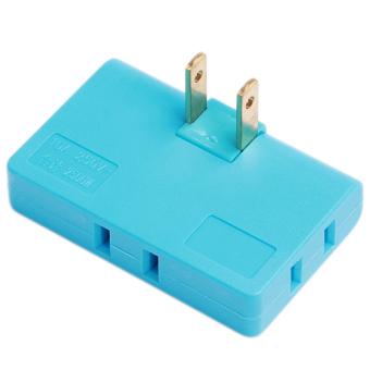 Hanyu Rotatable Conversion Plug Convenient Portable Plug Blue