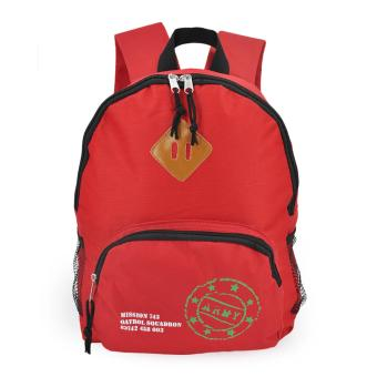 Happy Kids CRL-05 Kids School Bag Backpack (Red)