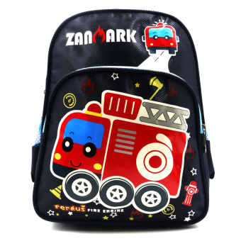 HAPPY KIDS Trendy Cute Unisex Kids Backpack Outdoor Bag (FiretruckDesign)