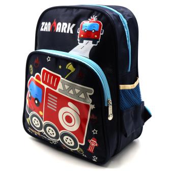 HAPPY KIDS Trendy Cute Unisex Kids Backpack Outdoor Bag (FiretruckDesign) - 2