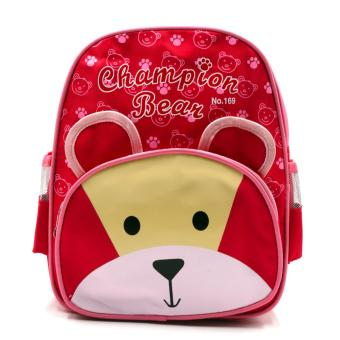 HAPPY KIDS Trendy Kids Girls Backpack Outdoor Bag (Bear Design)