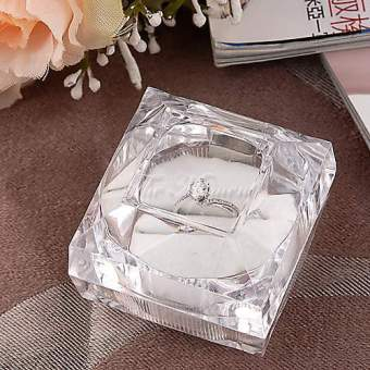 Happycat 2 PCS Rings Jewelry Clear Acrylic Crystal Storage BoxesDisplay Price Philippines