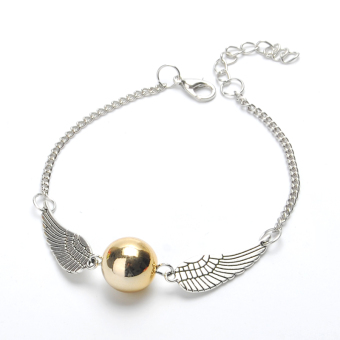 Harry Potter Golden Snitch Bracelets Wings Chain Bangle Gift Silver