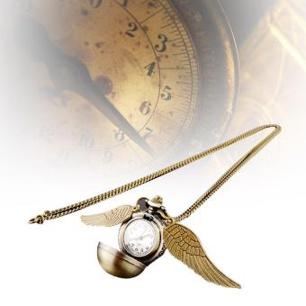 Harry Potter Snitch Watches Necklaces Steampunk Quidditch PocketPendant gold