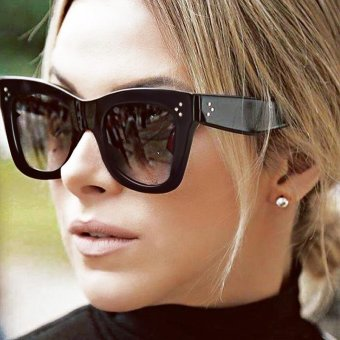 Hawaii Fashion Sunglasses Women Popular Brand Designer LuxurySunglasses Summer Style Sun Glasses Female Rivet Shades UV400 -intl Price Philippines