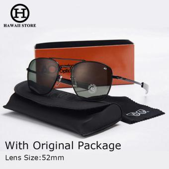 Hawaii New Fashion Army MILITARY Pilot 54mm Sunglasses Brand American Optical Glass Lens Sun Glasses Price Philippines