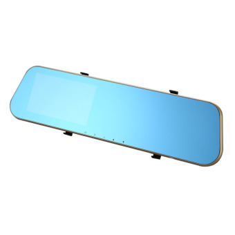 HD Blue Rearview Mirror Car Data Recorder Wide Angle Night Vision