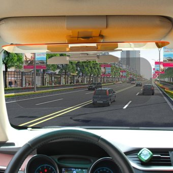 HD Car Sun Visor Goggles For Driver Day & Night Anti-dazzleMirror Sun Visors Clear View Dazzling Goggles Interior Accessories- intl