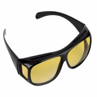 HD Vision Anti Glare Night View Driving Glasses Wrap Around Sunglasses - 3