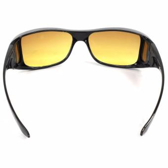 HD Vision Anti Glare Night View Driving Glasses Wrap Around Sunglasses - 4