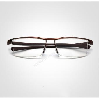 HDCRAFTER Eyewear Rimless Square Myopia Frame Glasses Frame Men Brand Comfortable Slip-resistant Eyeglasses Frames for Men E004 - 2