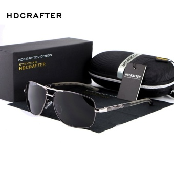 HDCRAFTER Luxury Retro Aviation Polarized Sunglasses Men Fashion Sun Glasses Men's Sunglasses Designer for Men Shades E012