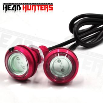 Head Hunters Motorcycle Eagle Eye Neon Color LED Fog Lights (Pink)